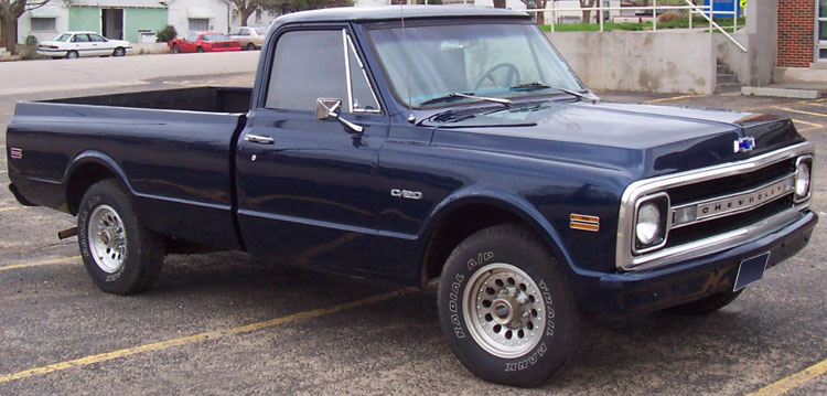 1970 CHEVROLET C-20 CUSTOM PICKUP - Front 3/4 - 64330