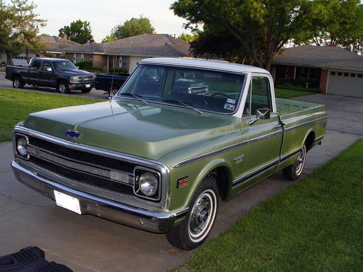 1970 CHEVROLET C-10 FLEETSIDE PICKUP - Front 3/4 - 64331