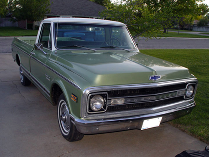 1970 CHEVROLET C-10 FLEETSIDE PICKUP - Side Profile - 64331