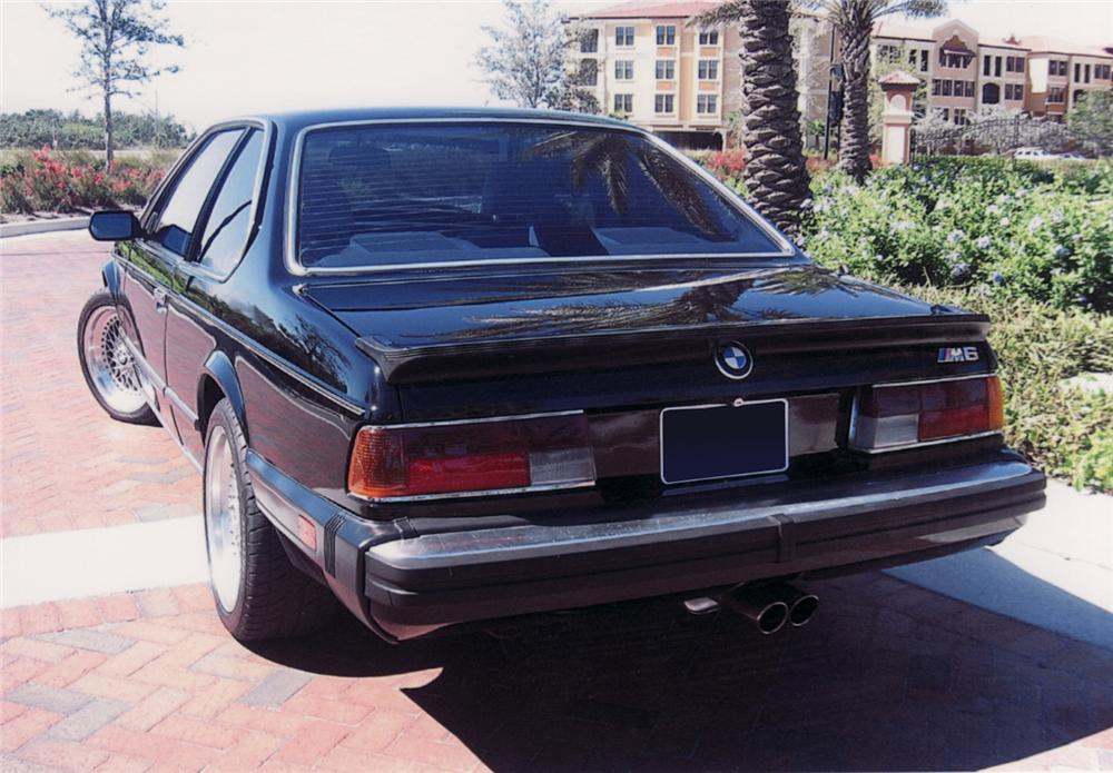 1987 BMW 635 CSI M6 2 DOOR COUPE - Rear 3/4 - 64338