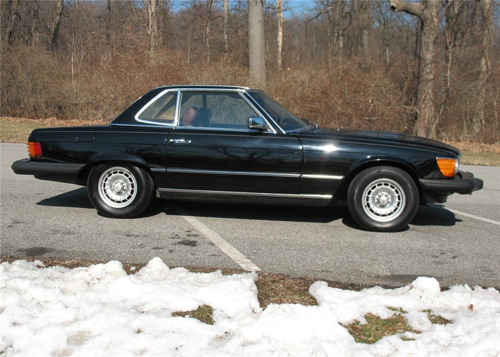 1984 MERCEDES-BENZ 380SL CONVERTIBLE - Side Profile - 64369