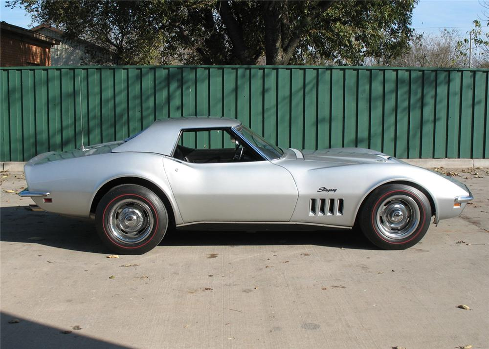 1969 CHEVROLET CORVETTE CONVERTIBLE - Side Profile - 64374