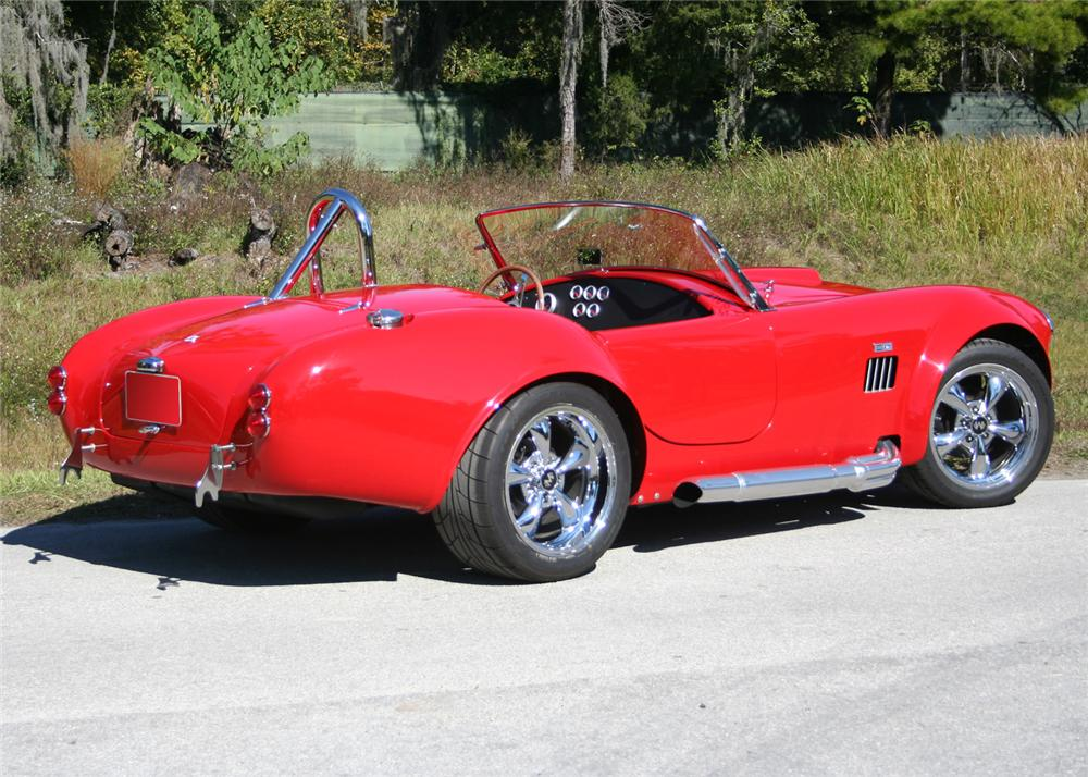 1965 SHELBY COBRA ROADSTER RE-CREATION - Rear 3/4 - 64379