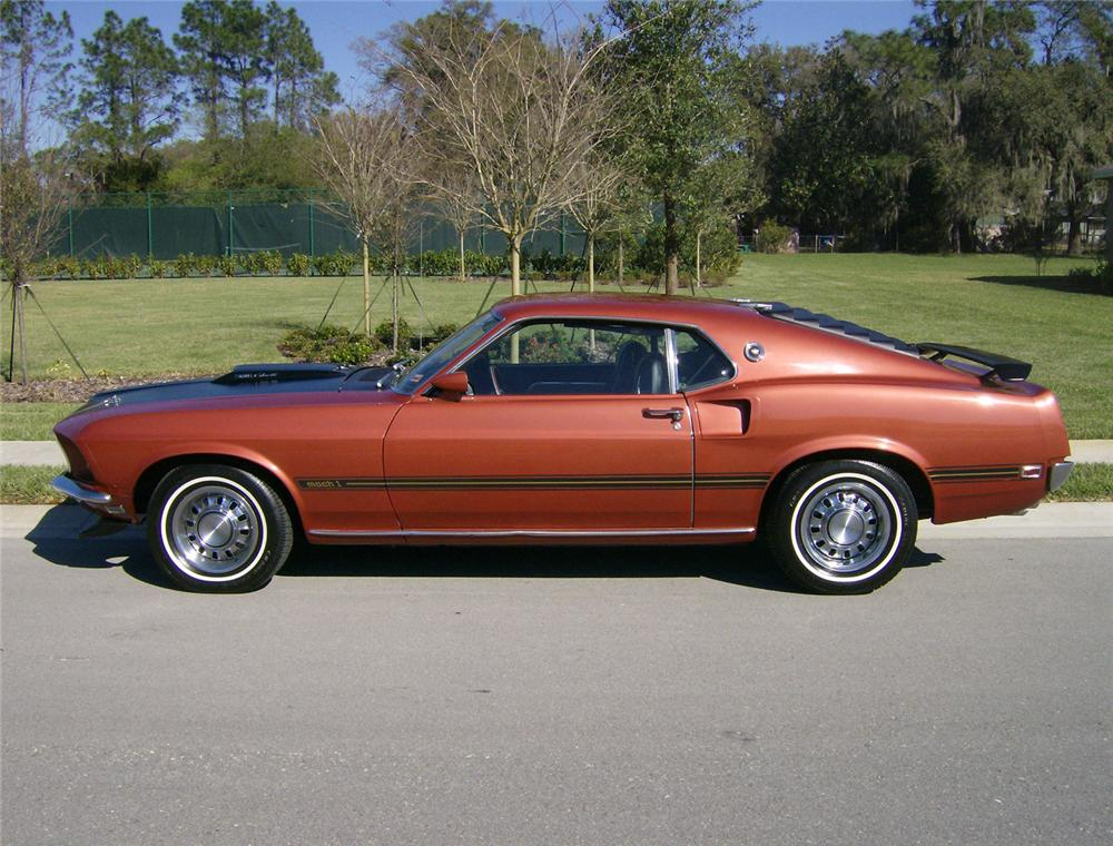 1969 FORD MUSTANG 428 CJ SPORTSROOF - Side Profile - 64406