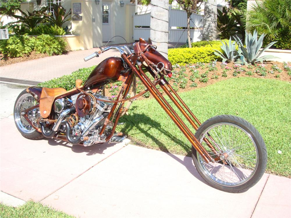"""2005 SPECIAL CONSTRUCTION CUSTOM CHOPPER """"STEEL HORSE"""" - Front 3/4 - 64415"""