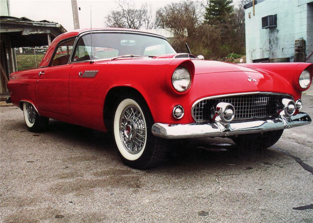 1955 FORD THUNDERBIRD CONVERTIBLE - Front 3/4 - 64433