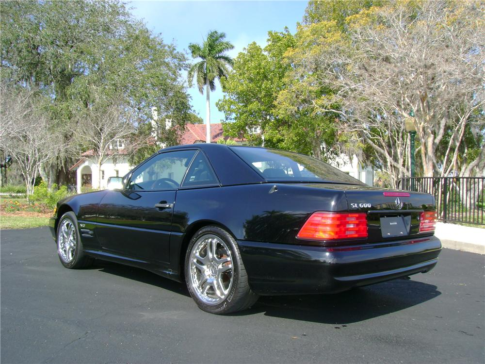 1998 MERCEDES-BENZ 600SL CONVERTIBLE - Rear 3/4 - 64435