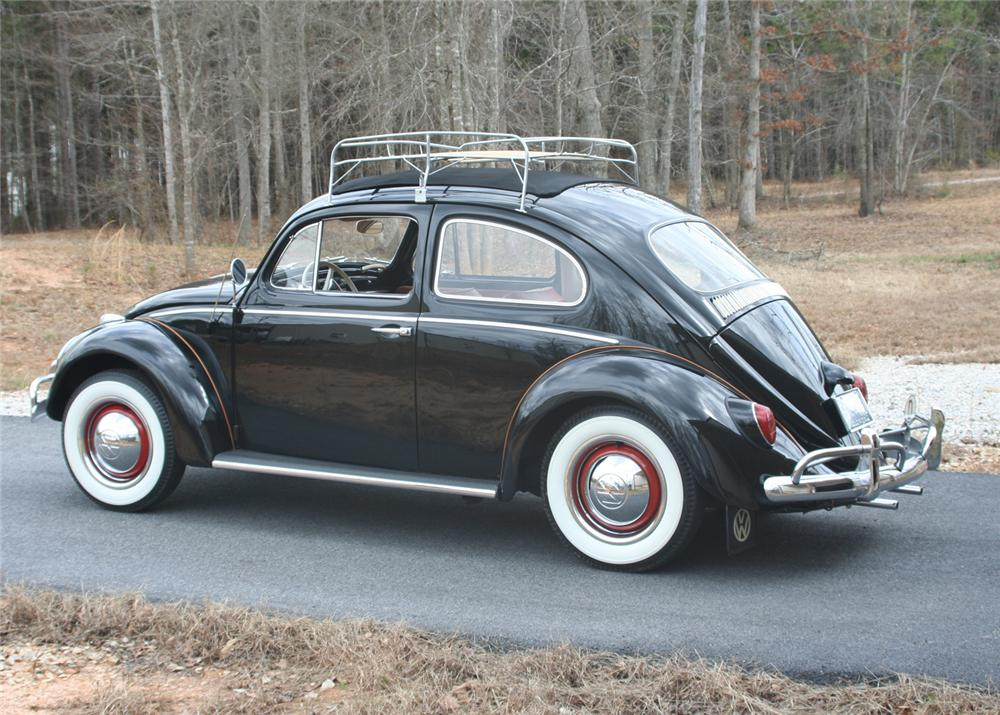 1963 VOLKSWAGEN BEETLE 2 DOOR SEDAN - Rear 3/4 - 64442