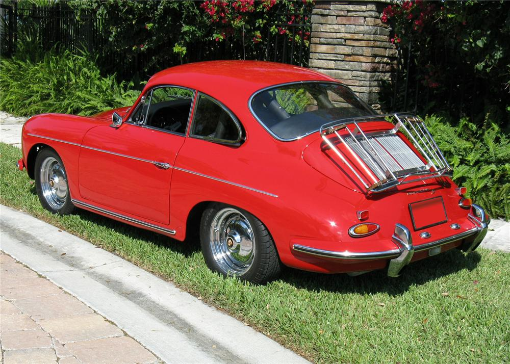1963 PORSCHE 356B 1600S COUPE - Rear 3/4 - 64446