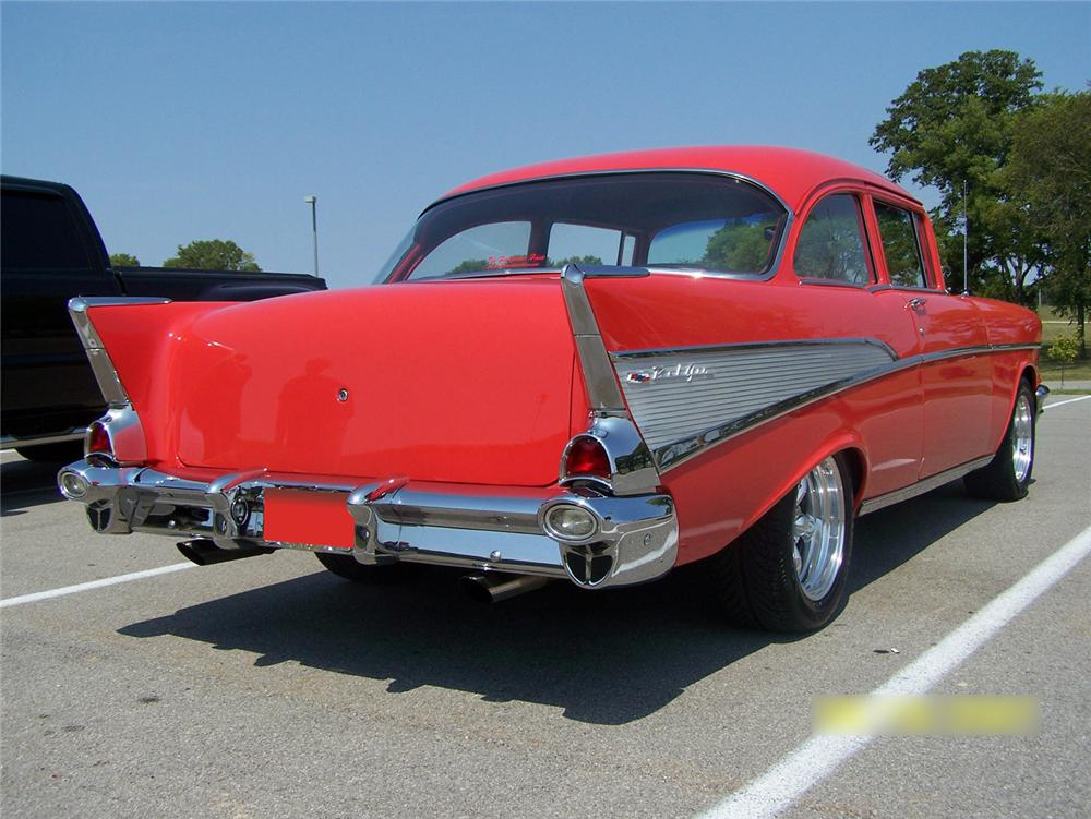 1957 CHEVROLET 210 CUSTOM 2 DOOR POST - Rear 3/4 - 64467