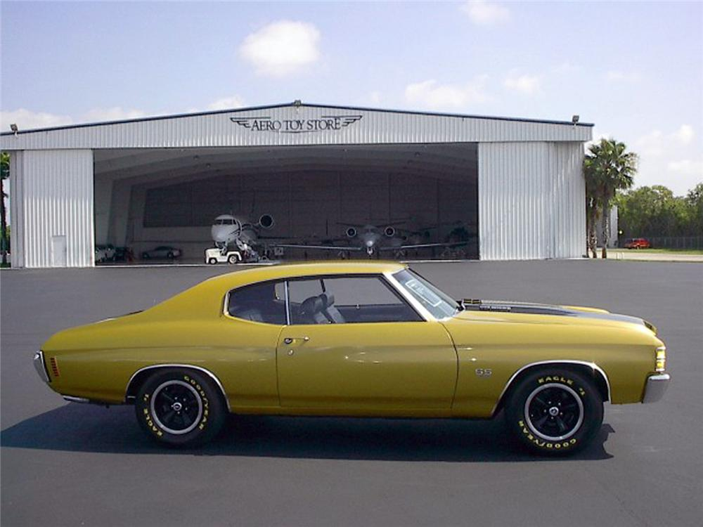 1971 CHEVROLET CHEVELLE SS 454 2 DOOR COUPE - Side Profile - 64563