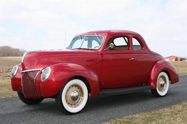 1939 FORD DELUXE CUSTOM COUPE - Side Profile - 64568