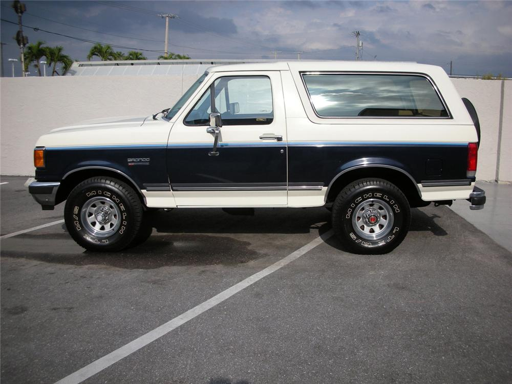 1990 FORD BRONCO XLT - Side Profile - 64641