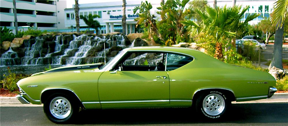 1969 CHEVROLET CHEVELLE MALIBU SS 454 RE-CREATION - Side Profile - 64657