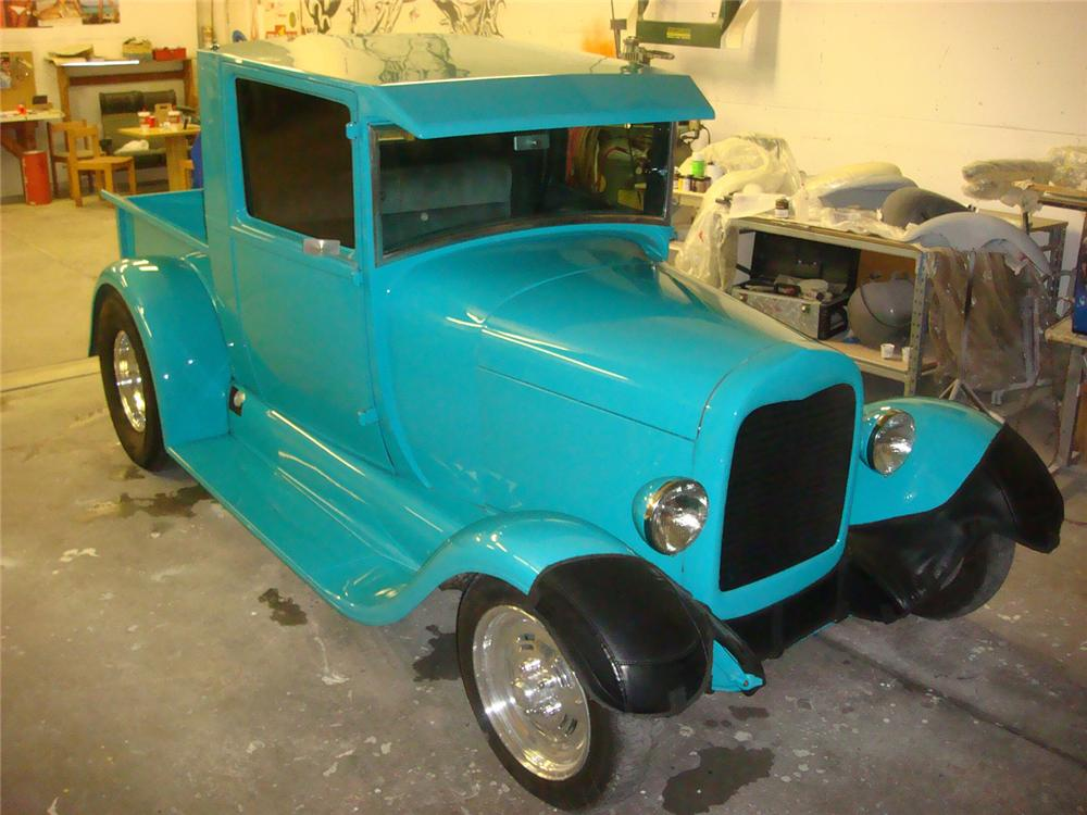 1929 FORD MODEL A CUSTOM TRUCK - Front 3/4 - 64676