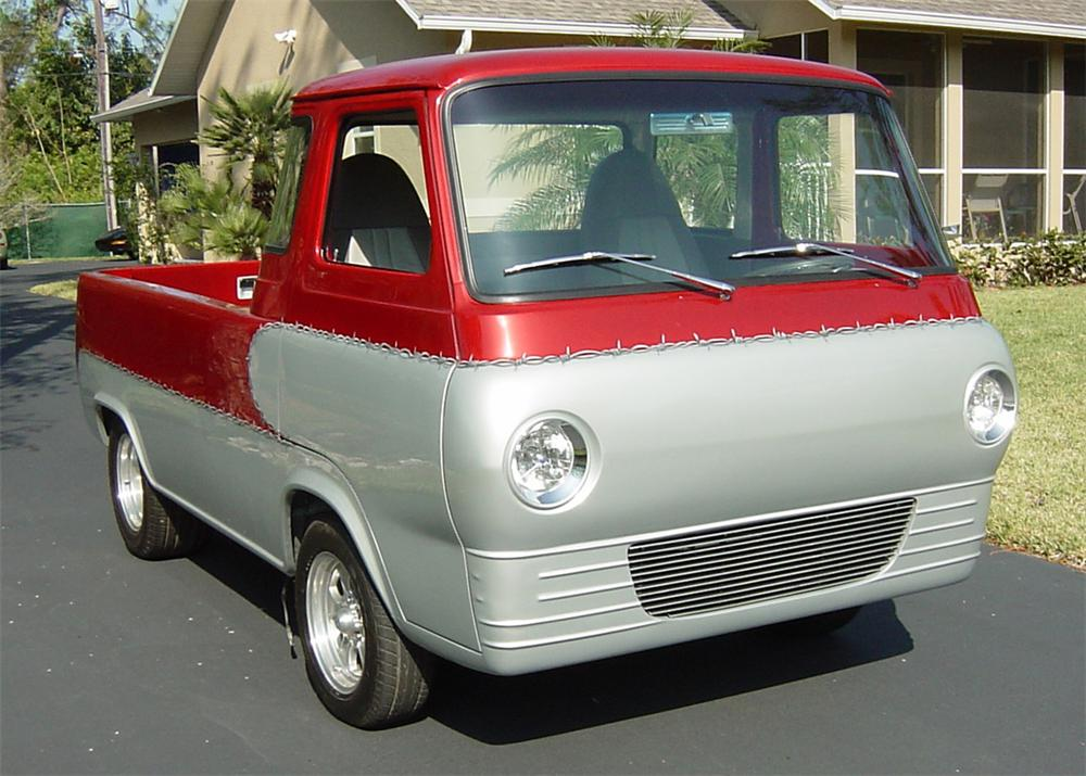 1966 FORD ECONOLINE CUSTOM TRUCK - Front 3/4 - 64683