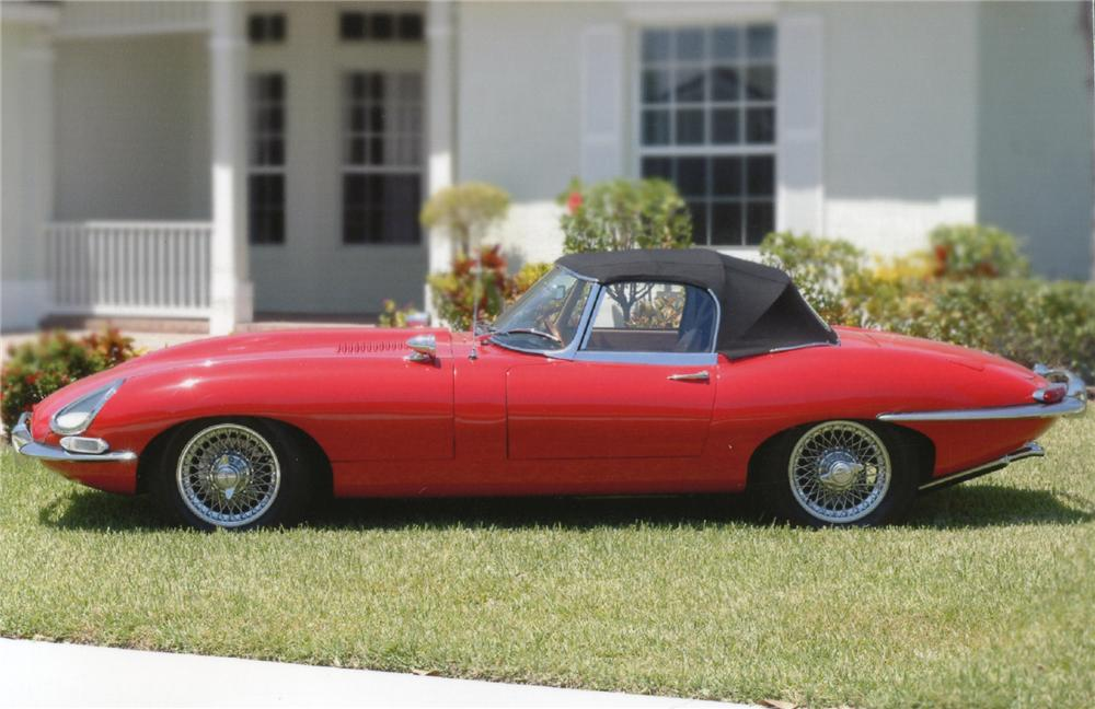1961 JAGUAR XKE SERIES I ROADSTER - Side Profile - 65745