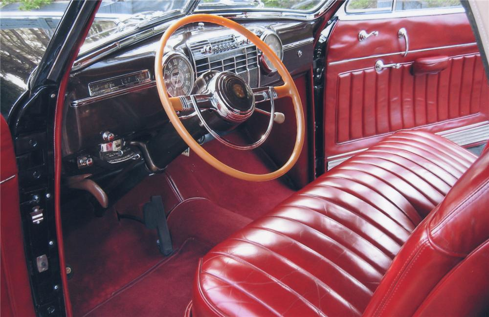 1941 CADILLAC SERIES 62 2 DOOR CONVERTIBLE - Interior - 65749