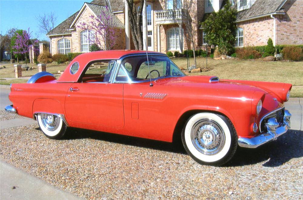 1956 FORD THUNDERBIRD CONVERTIBLE - Front 3/4 - 65760