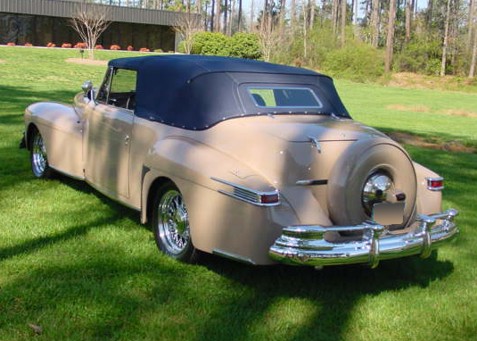 1948 LINCOLN CONTINENTAL CUSTOM 2 DOOR CONVERTIBLE - Rear 3/4 - 65775