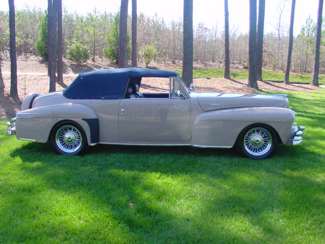 1948 LINCOLN CONTINENTAL CUSTOM 2 DOOR CONVERTIBLE - Side Profile - 65775