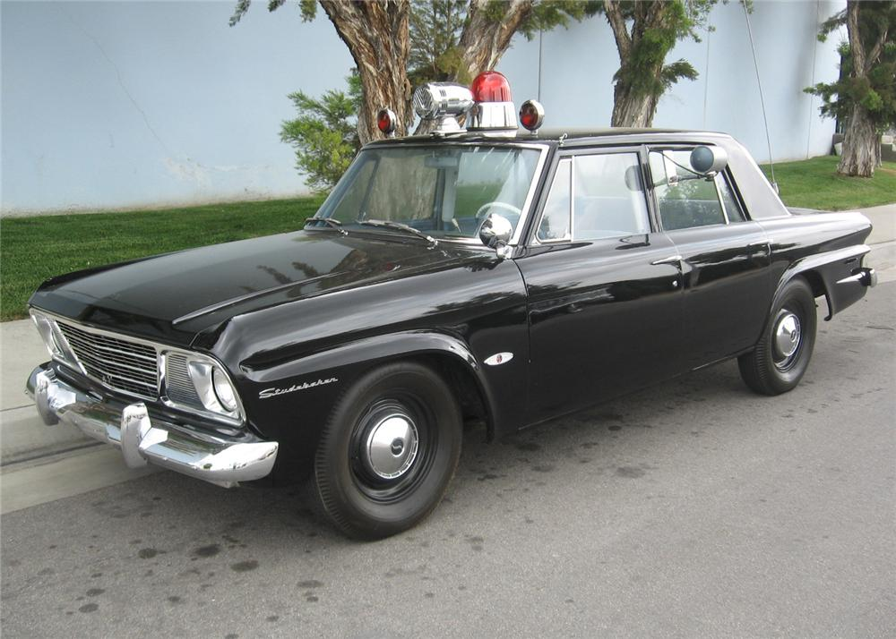 1964 STUDEBAKER 4 DOOR POLICE CAR - Front 3/4 - 65783