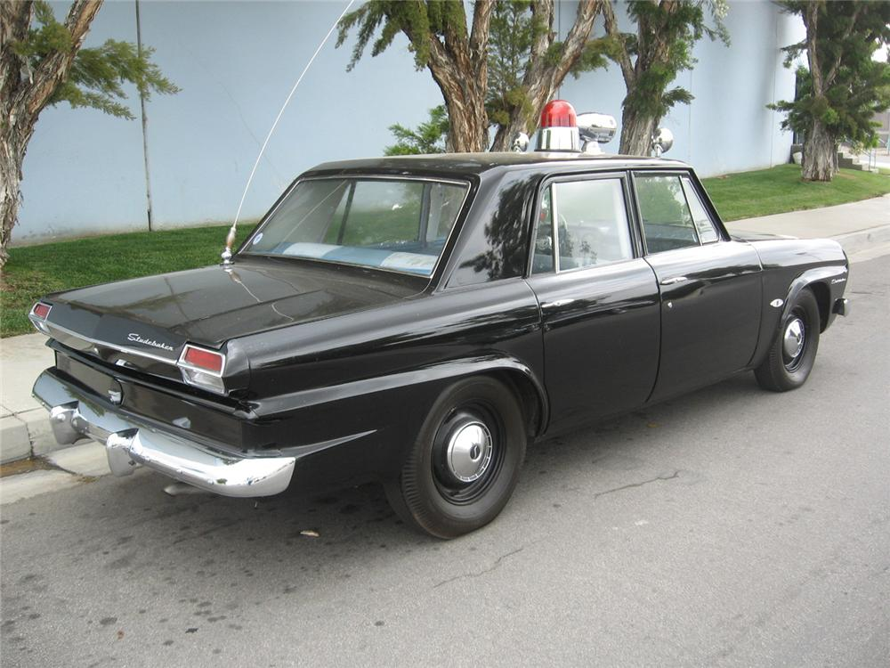 1964 STUDEBAKER 4 DOOR POLICE CAR - Rear 3/4 - 65783