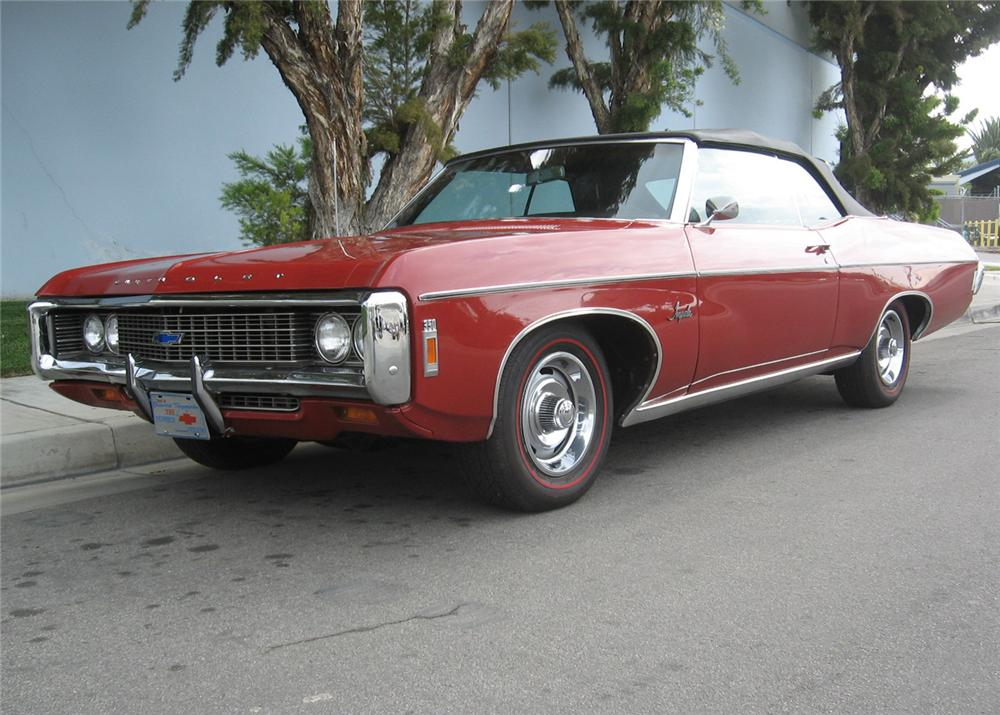 1969 CHEVROLET IMPALA 2 DOOR CONVERTIBLE - Front 3/4 - 65786
