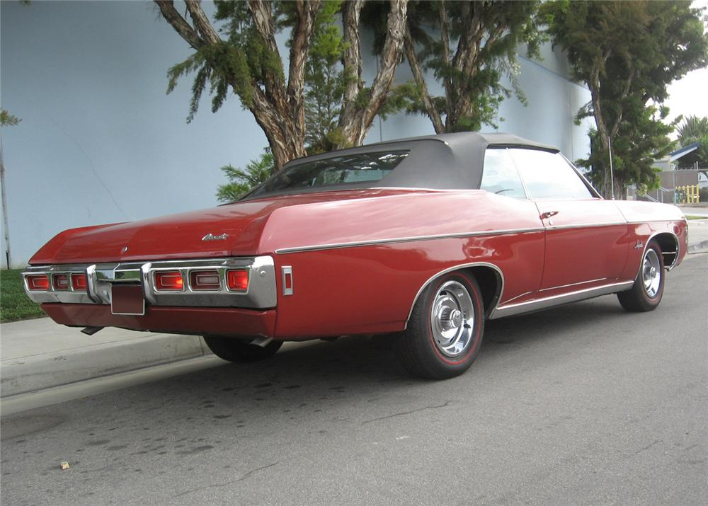 1969 CHEVROLET IMPALA 2 DOOR CONVERTIBLE - Rear 3/4 - 65786