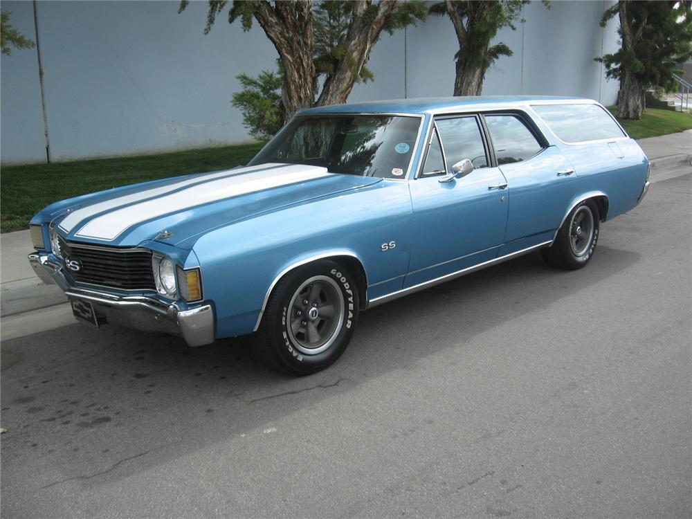 1972 CHEVROLET MALIBU WAGON SS RE-CREATION - Front 3/4 - 65787