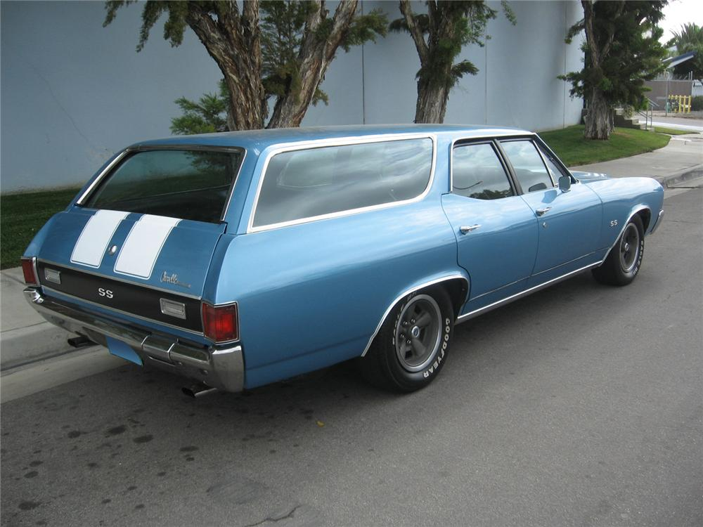 1972 CHEVROLET MALIBU WAGON SS RE-CREATION - Rear 3/4 - 65787