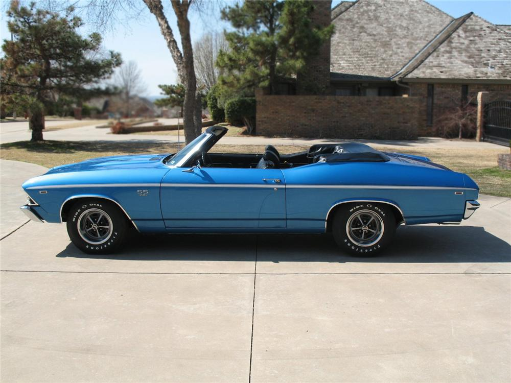 1969 CHEVROLET CHEVELLE SS 396 CONVERTIBLE - Side Profile - 65804