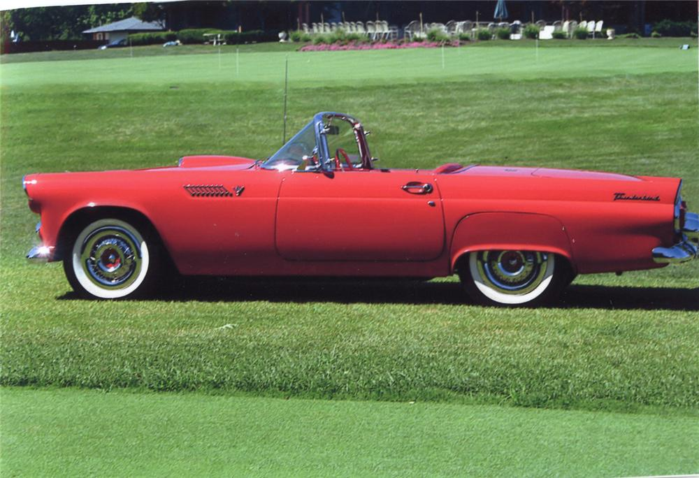 1955 FORD THUNDERBIRD CONVERTIBLE - Side Profile - 65812