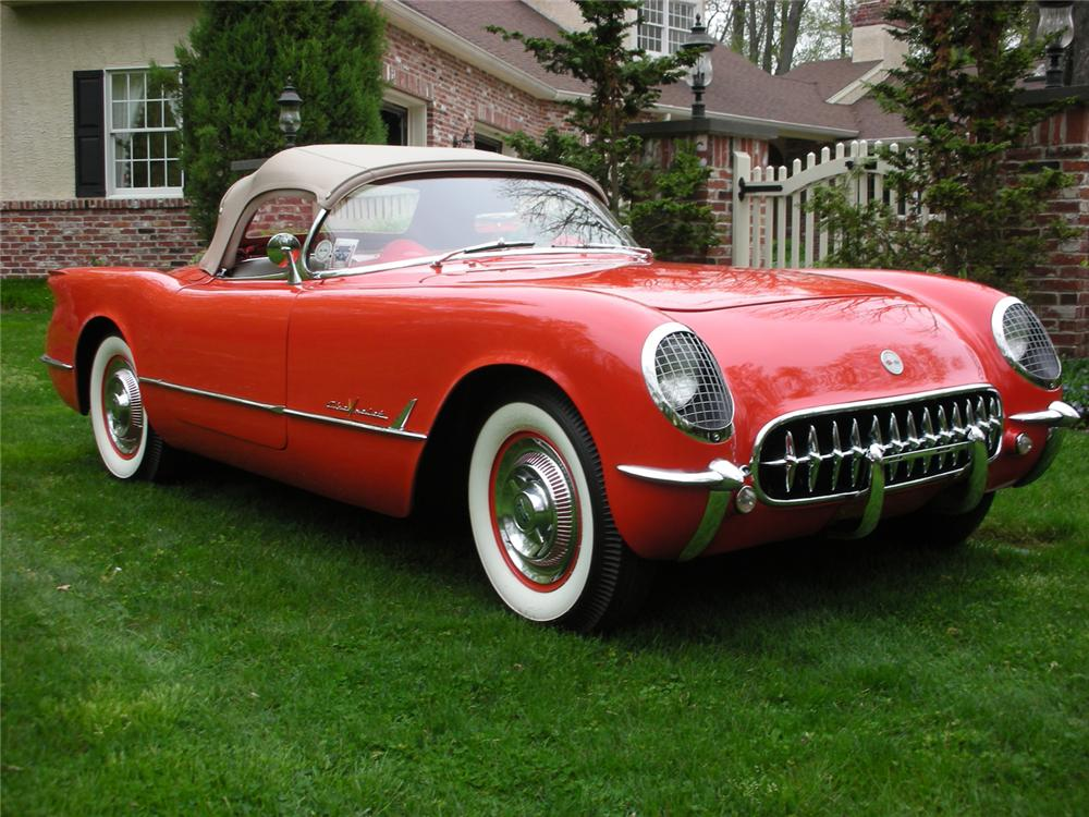 1955 CHEVROLET CORVETTE CONVERTIBLE - Front 3/4 - 65813