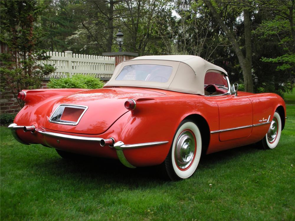 1955 CHEVROLET CORVETTE CONVERTIBLE - Rear 3/4 - 65813