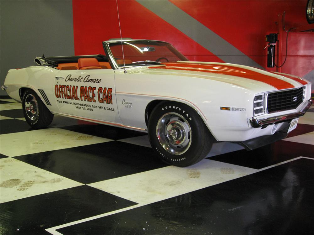 1969 CHEVROLET CAMARO RS/SS CONVERTIBLE - Front 3/4 - 65818