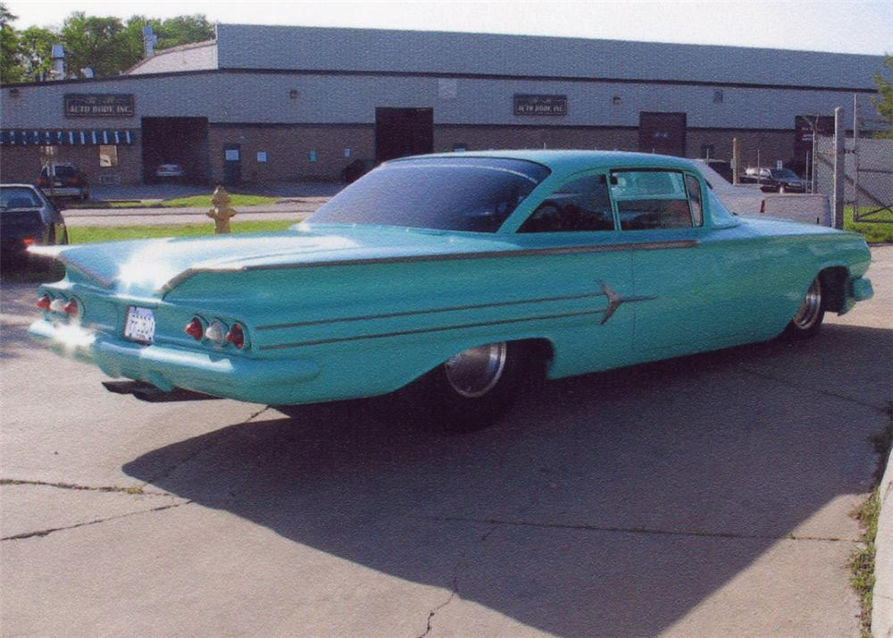 1960 CHEVROLET IMPALA CUSTOM 2 DOOR COUPE - Rear 3/4 - 65829