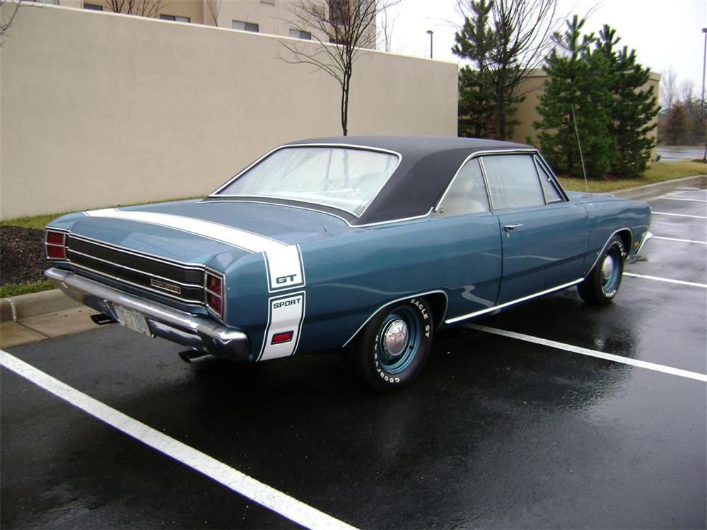 1969 DODGE DART GTS 2 DOOR HARDTOP - Rear 3/4 - 65832