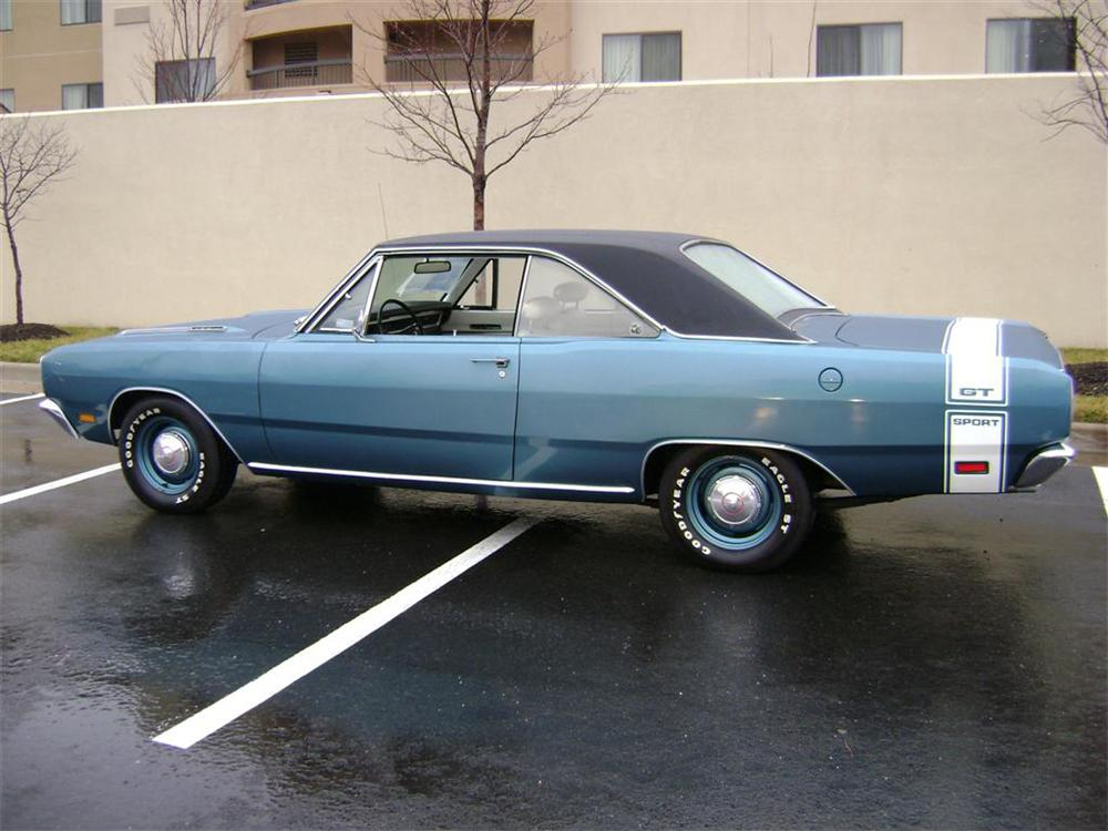 1969 DODGE DART GTS 2 DOOR HARDTOP - Side Profile - 65832