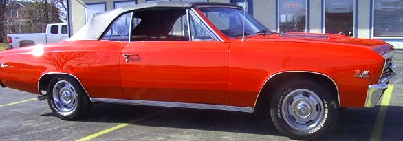 1967 CHEVROLET CHEVELLE SS 2 DOOR CONVERTIBLE - Side Profile - 65833