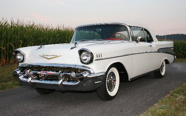 1957 CHEVROLET BEL AIR 2 DOOR CONVERTIBLE - Front 3/4 - 65835