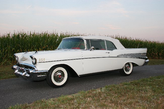 1957 CHEVROLET BEL AIR 2 DOOR CONVERTIBLE - Side Profile - 65835