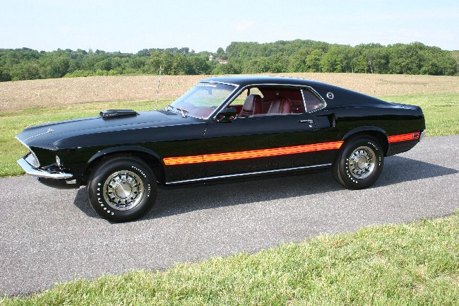 1969 FORD MUSTANG 428 SCJ MACH 1 FASTBACK - Front 3/4 - 65844