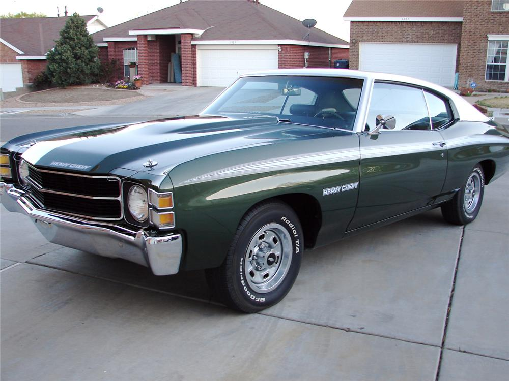 1971 CHEVROLET CHEVELLE HEAVY CHEVY 2 DOOR COUPE - Front 3/4 - 65845