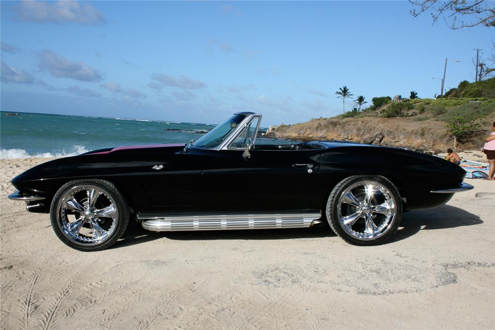 1964 CHEVROLET CORVETTE CONVERTIBLE - Side Profile - 65851