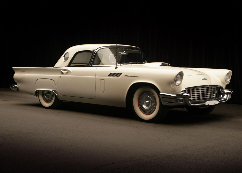 1957 FORD THUNDERBIRD CONVERTIBLE - Front 3/4 - 65853
