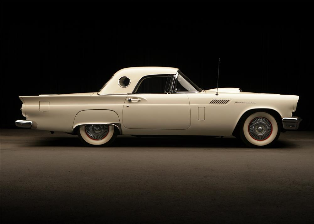 1957 FORD THUNDERBIRD CONVERTIBLE - Side Profile - 65853
