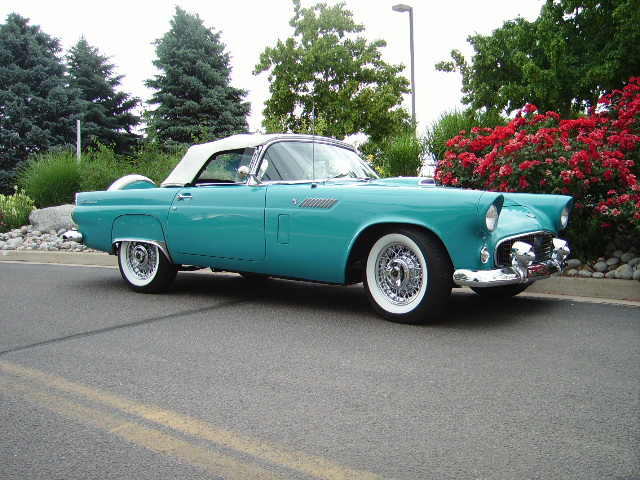 1956 FORD THUNDERBIRD CONVERTIBLE - Front 3/4 - 65859