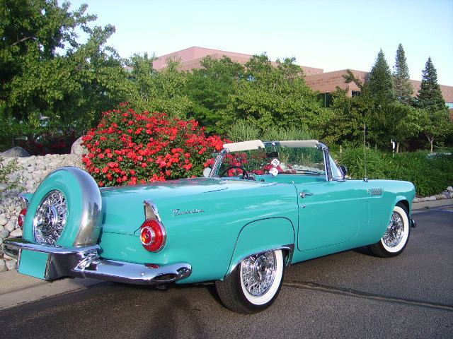 1956 FORD THUNDERBIRD CONVERTIBLE - Side Profile - 65859