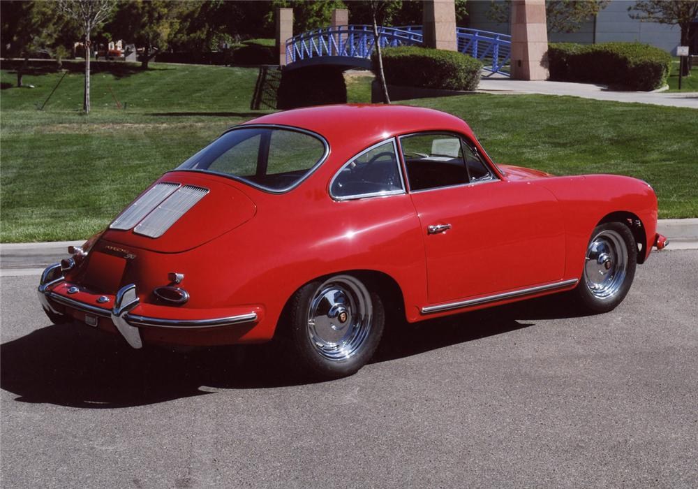 1963 PORSCHE 356B COUPE - Rear 3/4 - 65861
